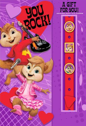Alvin and the Chipmunks™ Valentine's Day Card With Link'emz Wristband