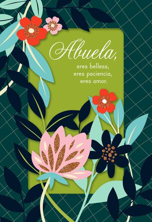 Abuela, You Are Beautiful Spanish-Language Mother's Day Card