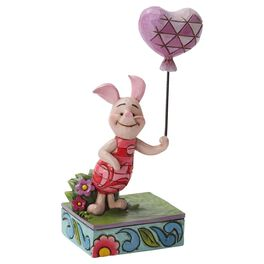 Jim Shore® Piglet Heart on a String Figurine, , large