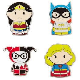 itty bitty® DC Comics Female Super Heroes Collectible Enamel Pins, Set of 4, , large
