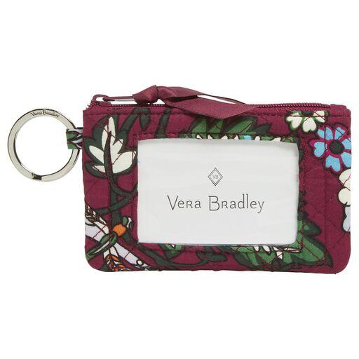 a9ab5dda4f Vera Bradley Iconic Zip ID Case in Bordeaux Blooms