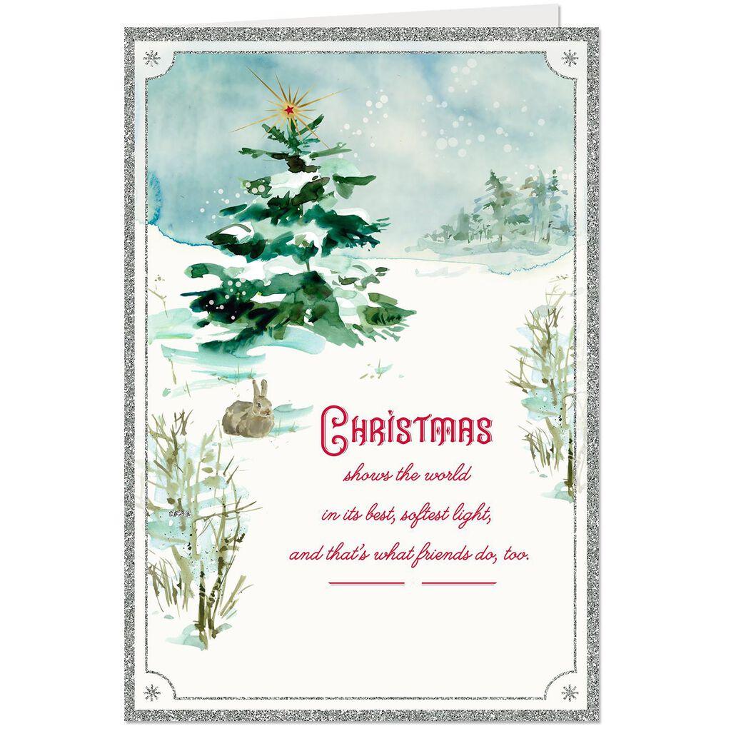 Snowy Day Christmas Card For Friend Greeting Cards Hallmark