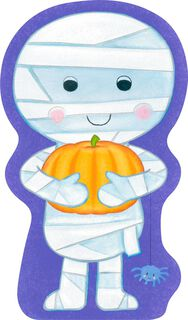 Cute Mummy Baby Boy's 1st Halloween Card,