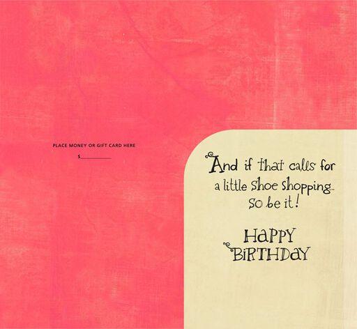 Shoe Shopping Birthday Money Holder Card,