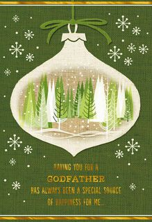 Special Godfather Christmas Card,