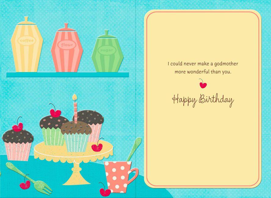 Baking Cupcakes Birthday Card For Godmother Greeting Cards Hallmark