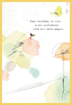 Color It Beautiful Marjolein Bastin Birthday Card