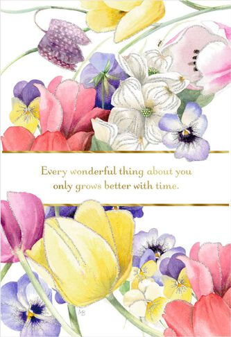 Marjolein bastin you grow better with time birthday card greeting marjolein bastin you grow better with time birthday card m4hsunfo