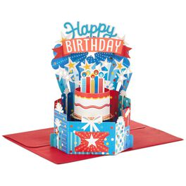 Colorful Birthday Celebration Pop Up Birthday Card, , large