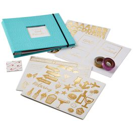 Girlfriends Blue and Gold Scrapbook Kit, , large