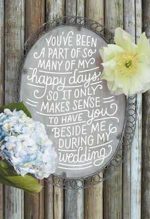Rustic Bridal Party Proposal Wedding Card