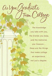 College Graduation Ivy Greeting Card,