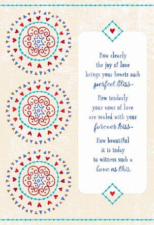 Medallions Forever Love Wedding Card