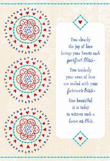 Medallions Forever Love Wedding Card,