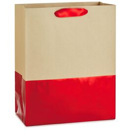 """Dipped Red Large Gift Bag, 13"""", , large"""