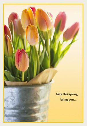 Bucket of Tulips Easter Card