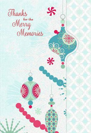 Merry Memories Thank-You Card