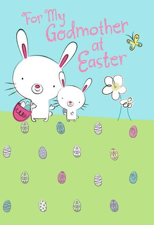 Godmother Egg Hunt Easter Card