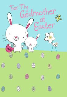 Godmother Egg Hunt Easter Card,