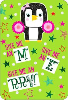 M E R-R-Y Granddaughter Christmas Card,