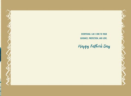Shoulder Rides Father's Day Card,