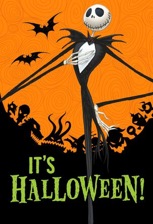 Tim Burton's The Nightmare Before Christmas Season's Creepings Halloween Card