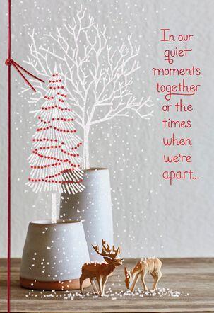 Wooden Deer Christmas Card for Husband