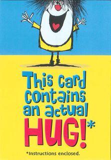 Actual Hug Friendship Card,