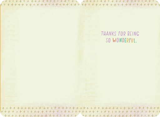 You're So Wonderful Thank You Card,