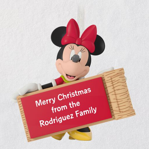 Minnie Mouse with Sled Personalized Ornament, ...