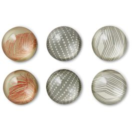 Natural Glass Magnets, Set of 6, , large