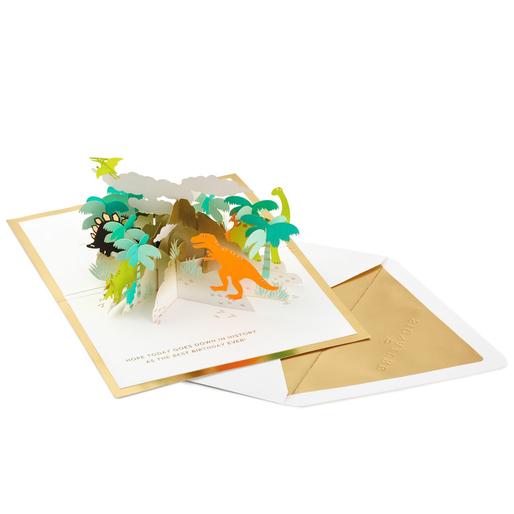 Happy Birthday Dinosaurs 3D Pop Up Card