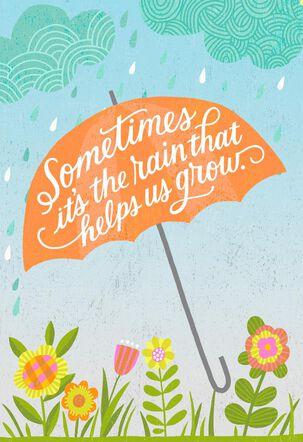 Orange Umbrella Encouragement Card
