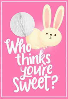 Cottontail Bunny Easter Card for Kid,