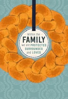 Challah Bread Rosh Hashanah Card for Family,