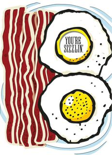 Bacon and Eggs Love Card,