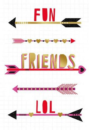 Modern Arrows Friendship Valentine's Day Card