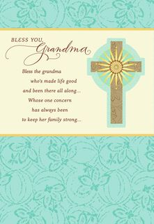 Bless You Grandma Religious Mother's Day Card From Us,