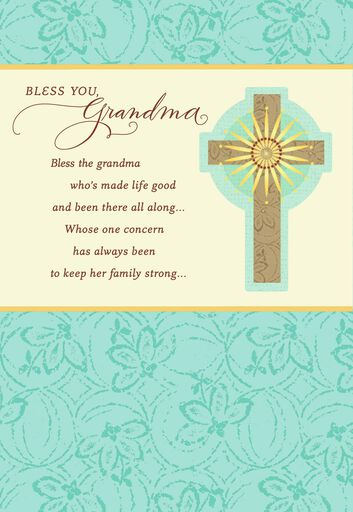 bless you grandma religious mothers day card from