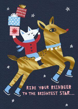 Reindeer Ride Christmas Card