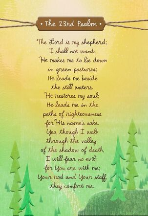 The Lord is My Shepherd Religious Encouragement Card