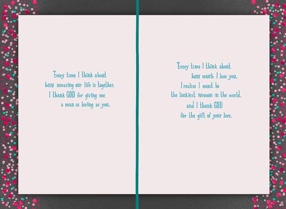 Thank God for Husband Valentines Day Card Greeting Cards Hallmark – Valentines Day Card for Husband