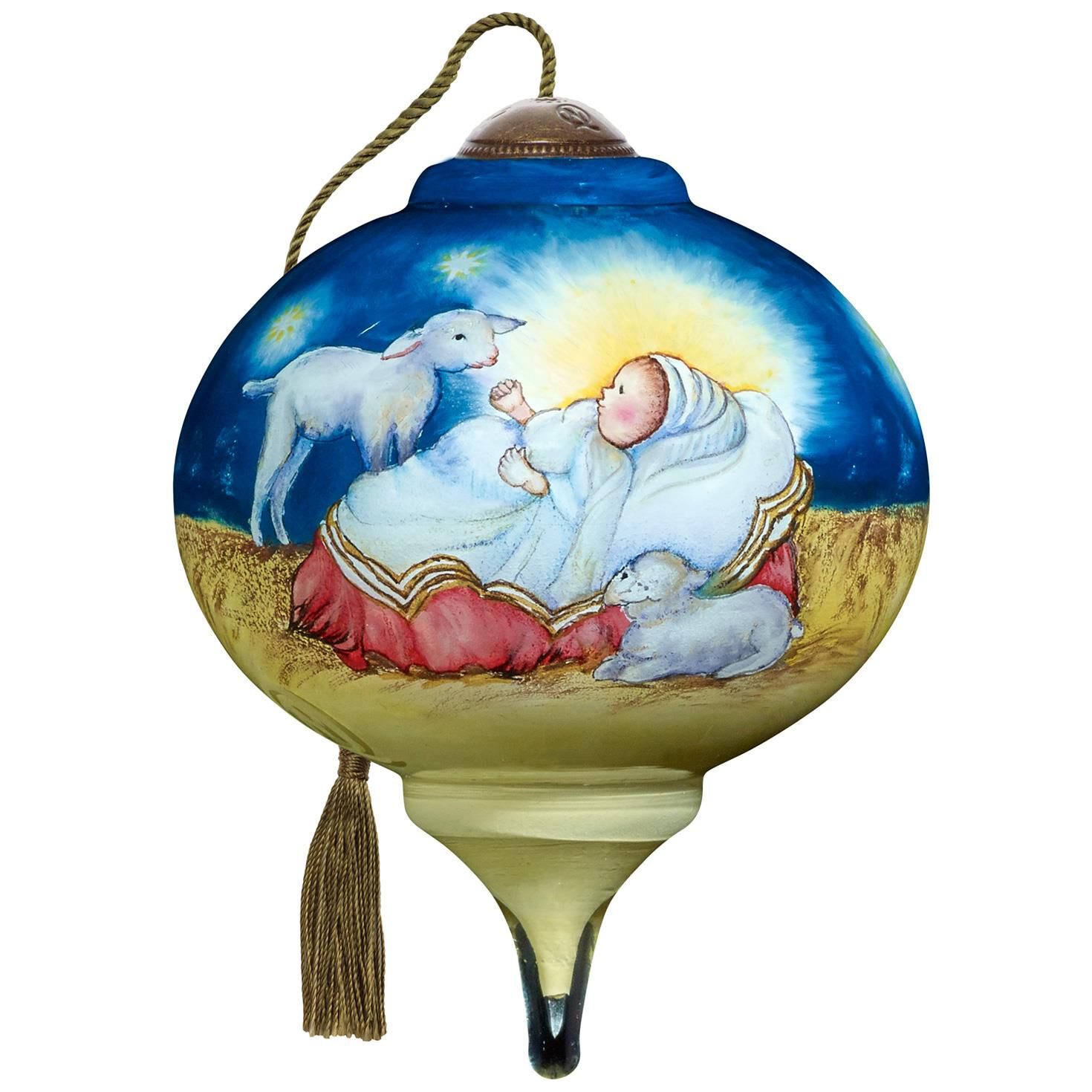 Precious Moments® Baby Jesus Ne\'Qwa Art Glass Ornament - Gift ...
