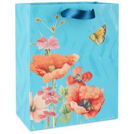 "Marjolein Bastin Poppies and Butterfly Medium Gift Bag, 9.5"", , large"