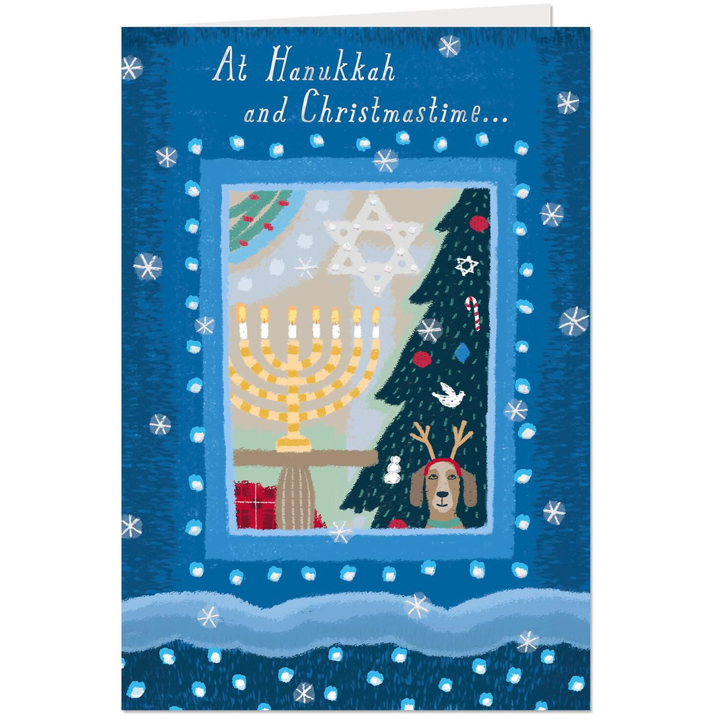 Cozy House Christmas And Hanukkah Card Greeting Cards Hallmark