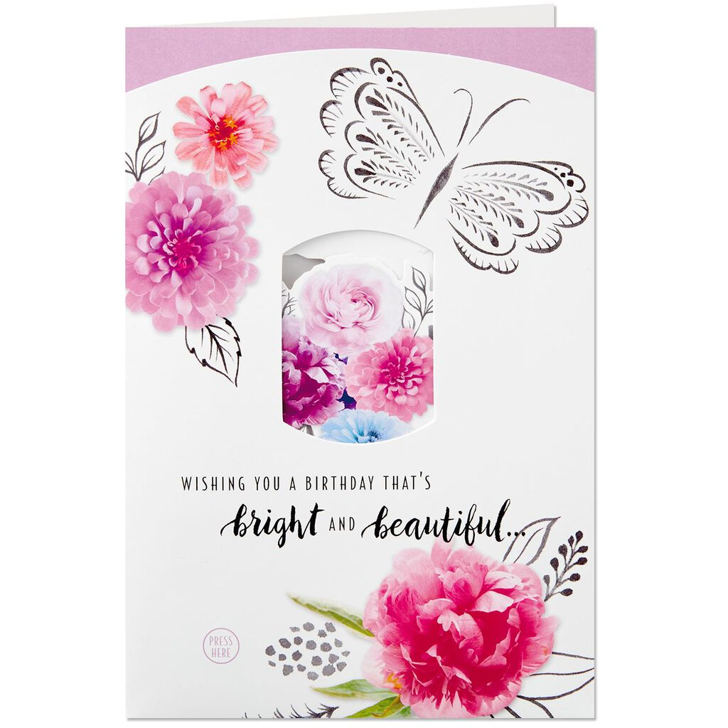 Bright And Beautiful Pop Up Birthday Card With Light