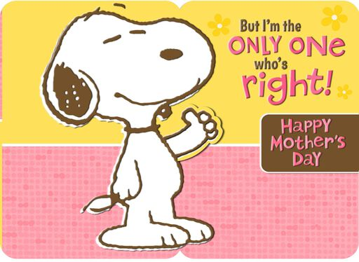 Peanuts® Snoopy Pop Up Mother's Day Card From Son,