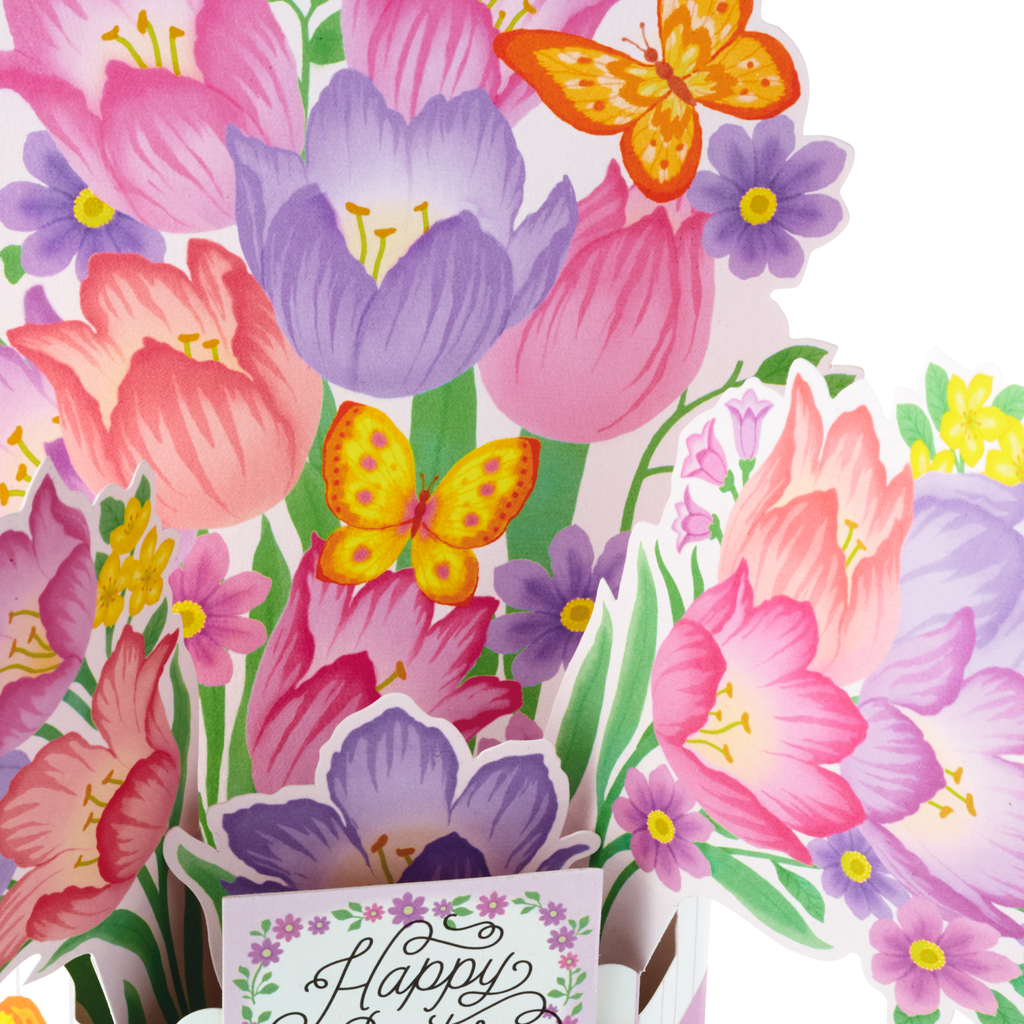 Springtime Flowers Pop Up Easter Card Greeting Cards Hallmark