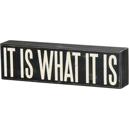 Primitives by Kathy What It Is Box Sign, , large