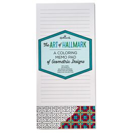 A Coloring Memo Pad of Geometric Designs, , large